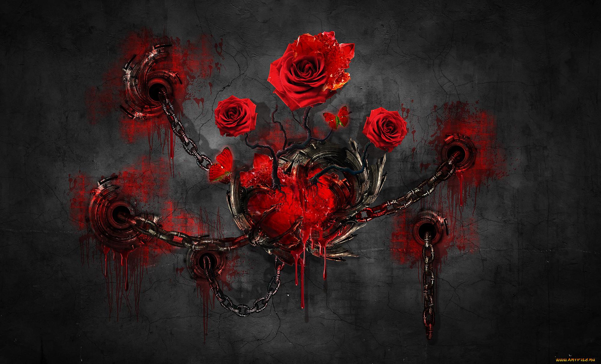 Картинки цветок и кровь